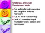challenges of central development model