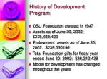 history of development program