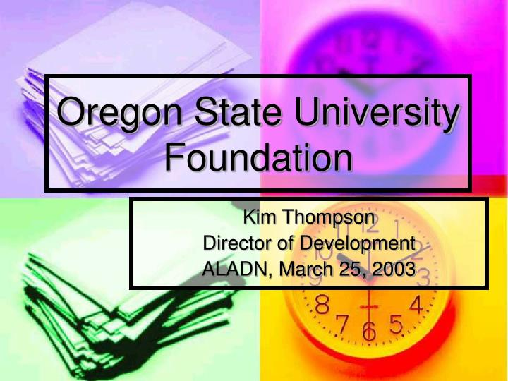 oregon state university foundation n.