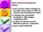 osu libraries development history