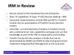 irm in review