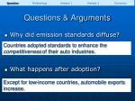 questions arguments