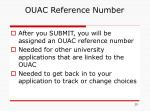 ouac reference number