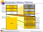 microengine memory mapping