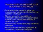 traumatismele extremit ilor leziuni vasculare majore