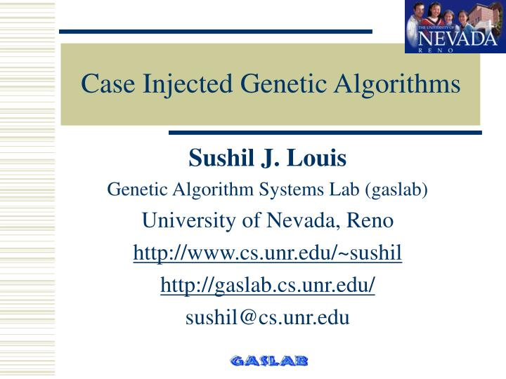case injected genetic algorithms n.