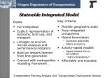 statewide integrated model
