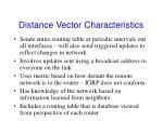 distance vector characteristics