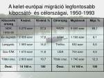 a kelet eur pai migr ci legfontosabb kibocs t s c lorsz gai 1950 1993