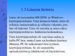 1 3 linuxin historia