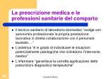 la prescrizione medica e le professioni sanitarie del comparto2