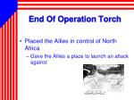 end of operation torch
