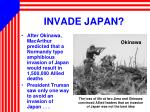 invade japan