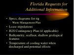 florida requests for additional information