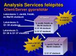 analysis services fel p t s client server gyors t t r
