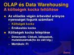 olap s data warehousing a k lts gek kocka felt lt se