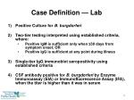 case definition lab