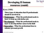 developing is human resources contd1