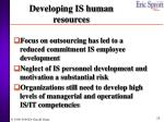 developing is human resources