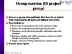 group exercise is project group