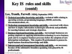 key is roles and skills contd1