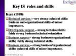key is roles and skills