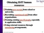 obtaining is it human resources