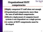 organizational is it competencies