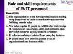 role and skill requirements of is it personnel
