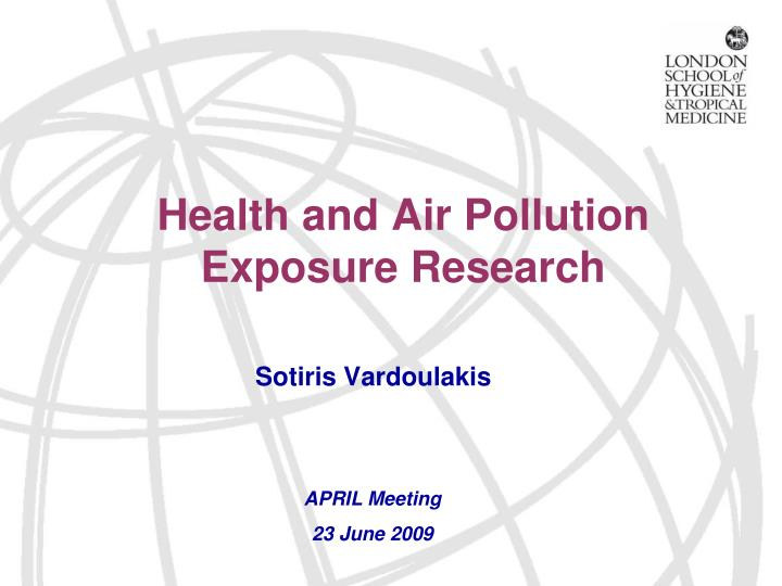 health and air pollution exposure research n.