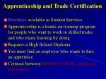 apprenticeship and trade certification