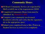 community hours