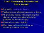 local community bursaries and merit awards
