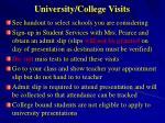 university college visits