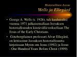 historiallinen jeesus wells ja elleg rd