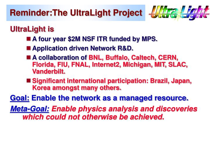 Reminder the ultralight project
