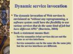 dynamic service invocation