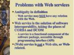 problems with web services