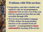 problems with web services1