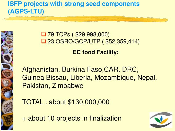 ISFP projects with strong seed components (AGPS-LTU)