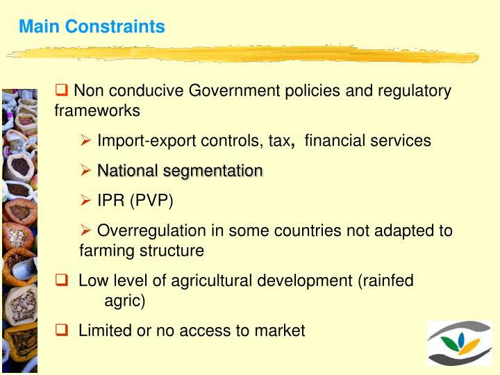 Main Constraints