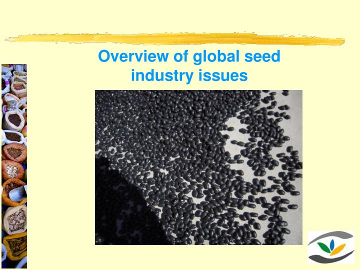 Overview of global seed industry issues