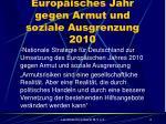 europ isches jahr gegen armut und soziale ausgrenzung 2010