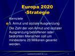 europa 2020 strategie