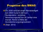 prognose des bmas