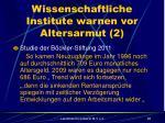 wissenschaftliche institute warnen vor altersarmut 2