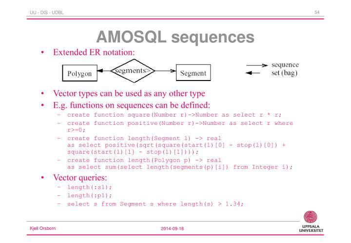 AMOSQL sequences
