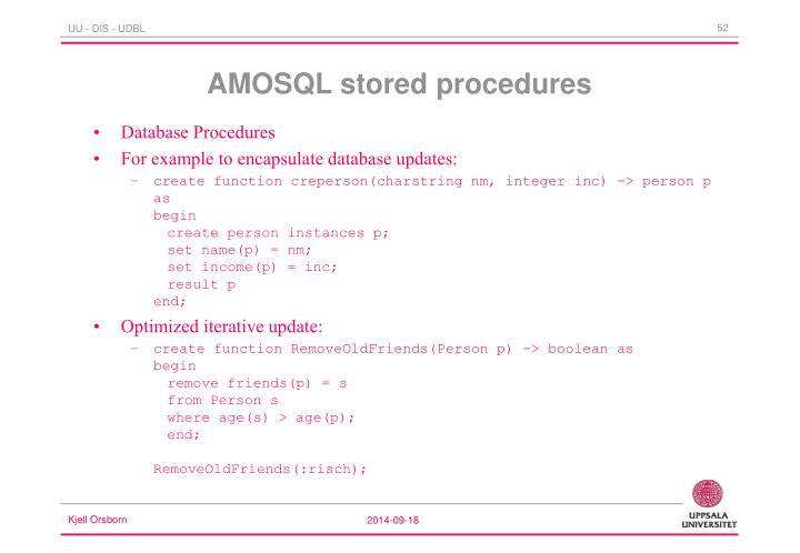 Database Procedures
