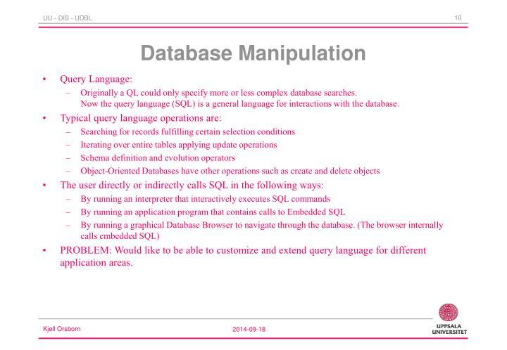 Database Manipulation