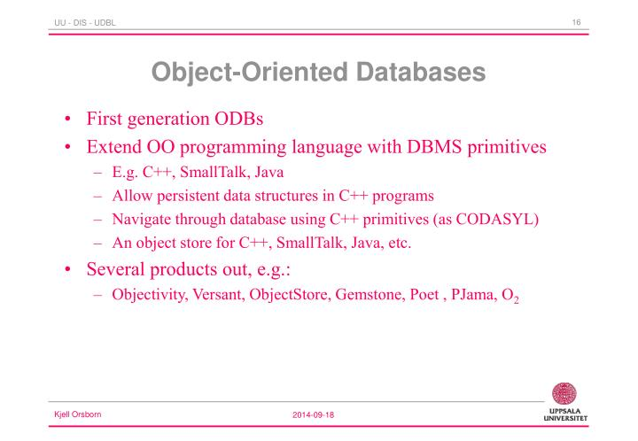 First generation ODBs